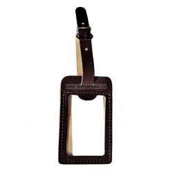 Kožená visačka na zavazadlo Hajn 291201.0 tm.hnědá