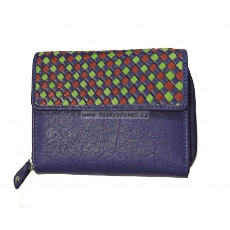 Dámská kožená peněženka DD 110-06 modrá