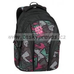 Studenský batoh Bagmaster BAG 7 B BLACK/PINK/GREY