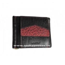 Kožená peněženka dolarka Lagen 4018 černá/červená