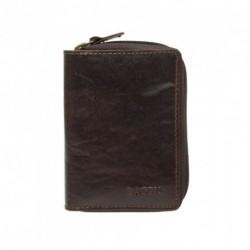 Kožené pouzdro na kreditní karty Lagen 5015/T tm.hnědé