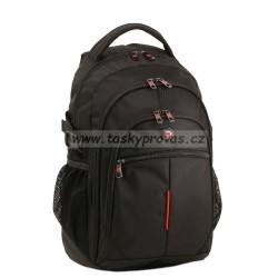 Batoh s kapsou na notebook Enrico Benetti 47081 černý