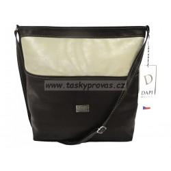 Kabelka Crossbody značky DAPI DESIGN 0113-01 černá/zlatá