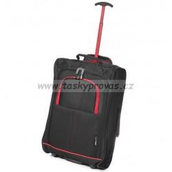Kabinové zavazadlo CITIES T-830/1-55 - černá/červená