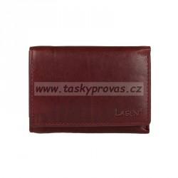 Kožená peněženka dámská Lagen LM-2521/T vínově červená