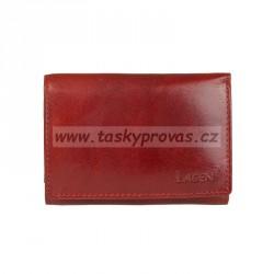 Kožená peněženka dámská Lagen LM-2521/T červená