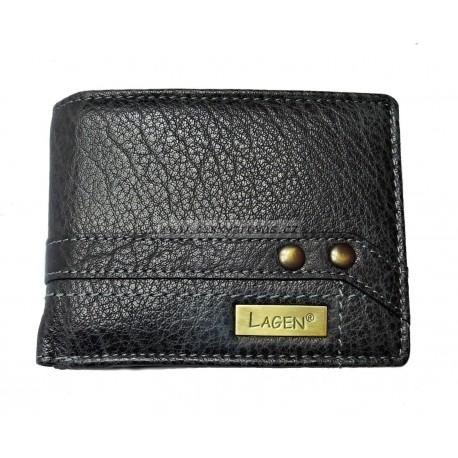 Pánská kožená peněženka Lagen 113/IT černá