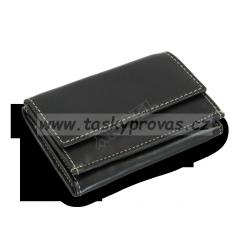 Kožená mini peněženka Arwel 511-4392A černá