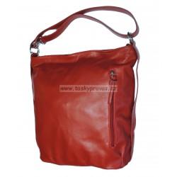 Kožená kabelka Diamonds by Bruni Lisa červená
