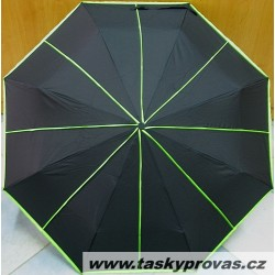 Deštník skládací Cabrio NEON 3064 černý/ zelené pruhy