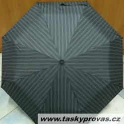 Deštník skládací Blue Drop A389UC šedý/černý proužky