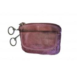 Luxusní kožená klíčenka Lagen 786-382/D fialová-plum