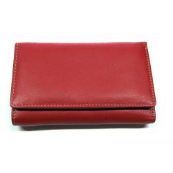 KROL 8087 červená dámská kožená peněženka