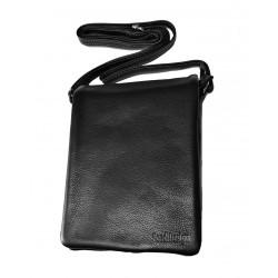 Kožená taška přes rameno E.B. SendiDesingn 1103 černá