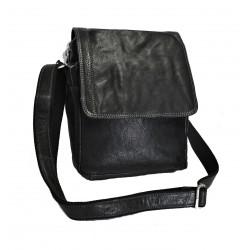 Kožená taška přes rameno E.B. SendiDesingn CT/MG 702 černá