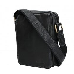 Kožená taška přes rameno E.B. SendiDesingn CT/MG 52006 černá