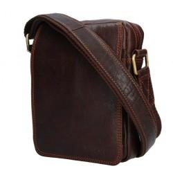 Kožená taška přes rameno E.B. SendiDesingn CT/MG 52006 hnědá