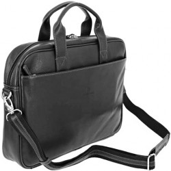 Kožená manažerská taška Hexagona 462544 černá
