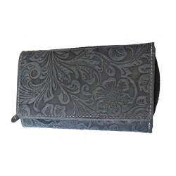 Dámská kožená peněženka DD D 41-36 tm.modrá (ražba)