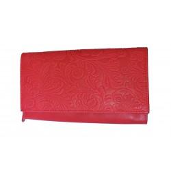 Dámská kožená peněženka DD D175-37 červená (ražba)