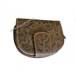 Dámská kožená peněženka DD W30-33 tma.hnědá tlačená