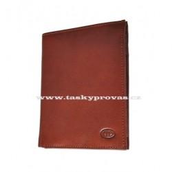 Kožená peněženka DD 10401 hnědá