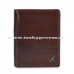 Pánská kožená luxusní peněženka Cosset 4501 Komodo hnědá