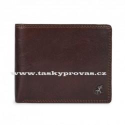 Pánská kožená luxusní peněženka Cosset 4502 Komodo hnědá