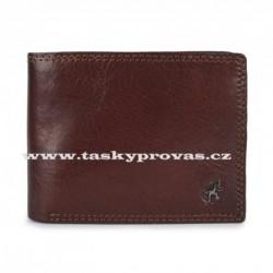 Pánská kožená luxusní peněženka Cosset 4503 Komodo hnědá