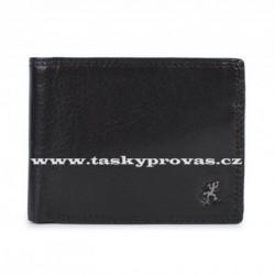 Pánská kožená luxusní peněženka Cosset 4503 Komodo černá