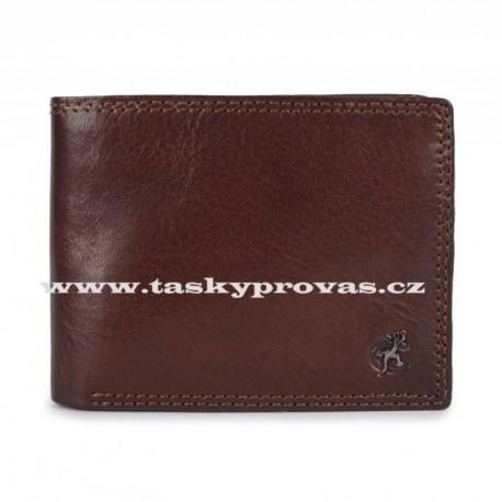 Pánská kožená luxusní peněženka Cosset 4504 Komodo hnědá