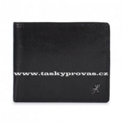 Pánská kožená luxusní peněženka Cosset 4504 Komodo černá