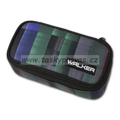 Penál Walker Level green 49122-135 (zelená, černá, fialová, růžová)