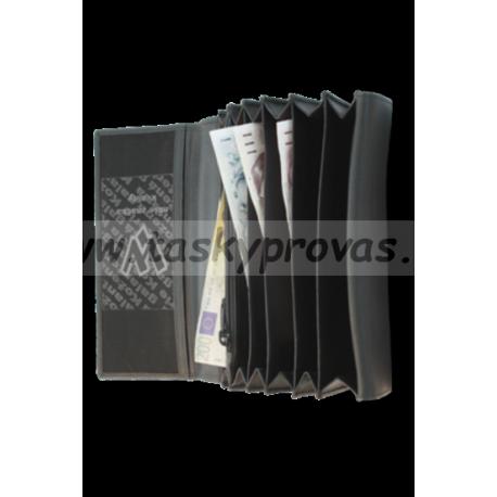 Kožená černá kasírka ARWEL 515 - 2401A černá