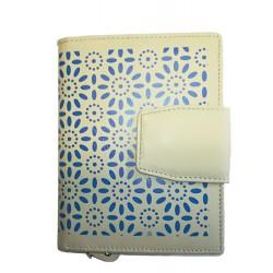 Dámská kožená peněženka DD S 046-17 béžová/modrá