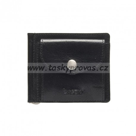 Kožená peněženka dolarka Lagen 2017 černá