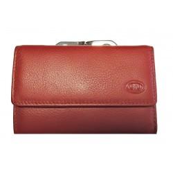 Dámská kožená peněženka DD 1208-07 tm.červená