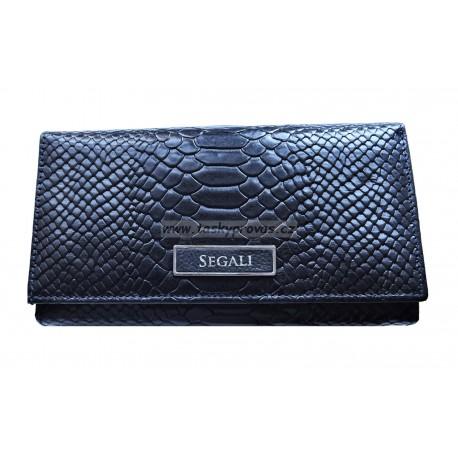 Dámská kožená peněženka Segali 910.19.9125 navy