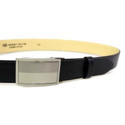Pánský luxusní kožený společenský opasek s plnou sponou Belts 35-020-A3 černý