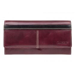 Dámská kožená luxusní peněženka Lagen 9770 red/black