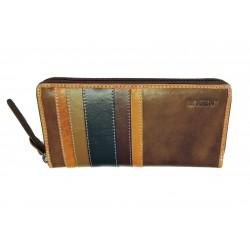 Dámská kožená luxusní peněženka Lagen 26513 brown/multi