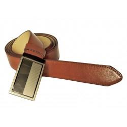 Pánský luxusní kožený společenský opasek s plnou sponou Belts 35-020-A3 hnědý