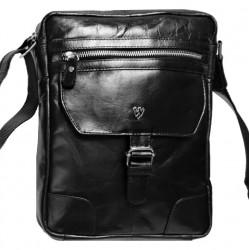 Kožená taška crossbag  Arwel 215-1792 černá