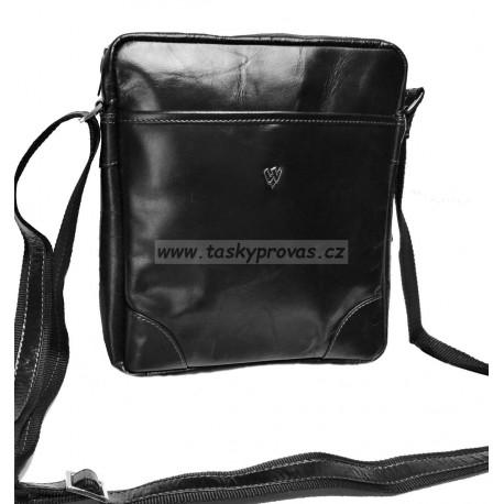 Kožená taška crossbag  Arwel 215-1713 černá