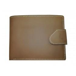 Pánská kožená peněženka Tom 5076-80 hnědá bílé prošití
