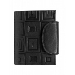 Dámská kožená luxusní peněženka Hajn 584959.33 černá kostky