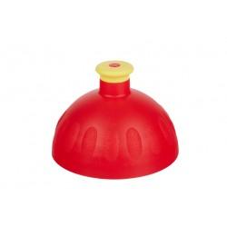 Víčko - komplet se zátkou červená/žlutá
