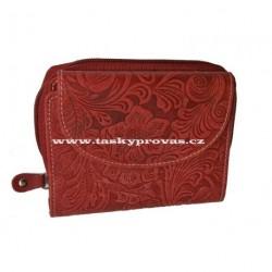 Dámská kožená peněženka DD D977-36 červená (ražba)