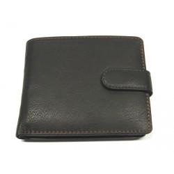 Kožená pánská peněženka s přepínkou Krol 911 tmavě hnědá