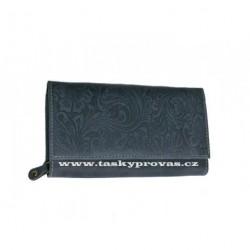 Dámská kožená peněženka DD D175-36 tm.modrá (ražba)